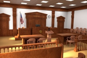 court room for hearings