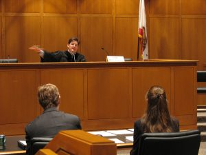 judge hearing a bail trial